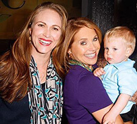 Kaia with Katie Couric