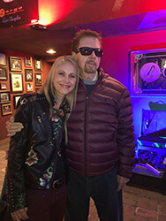 Kaia with Tom Robbins